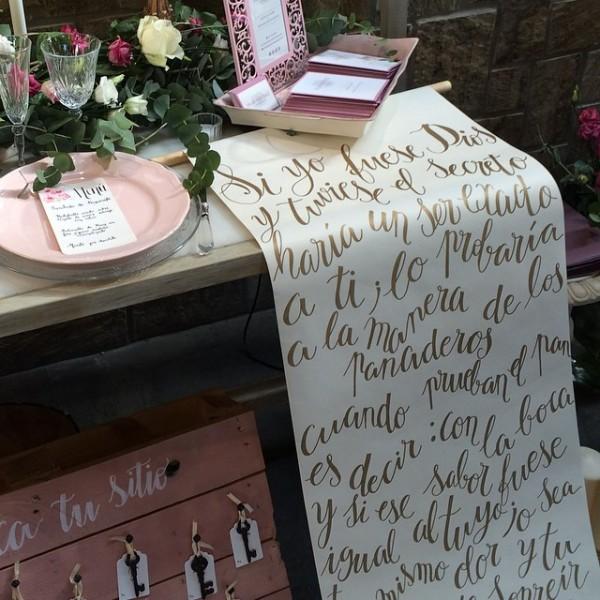 Caligrafía para bodas
