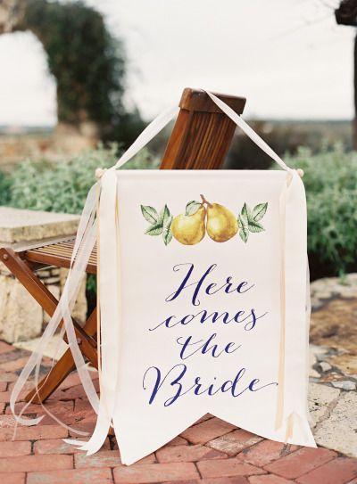 banderin Ya llega la novia