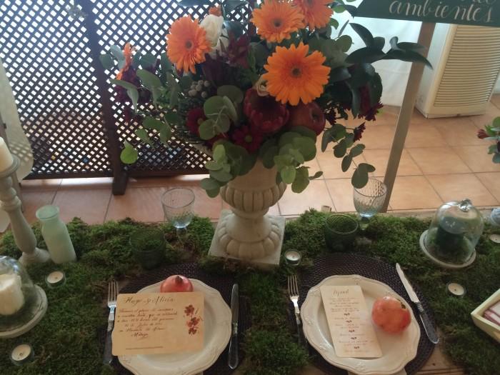 mesa diseñada por Pilar Martínez Eventos