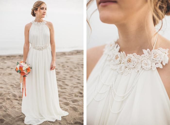 Vestido de novia para fiesta en la playa