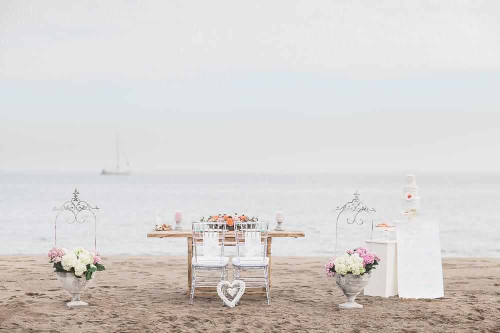 boda elegante en la playa