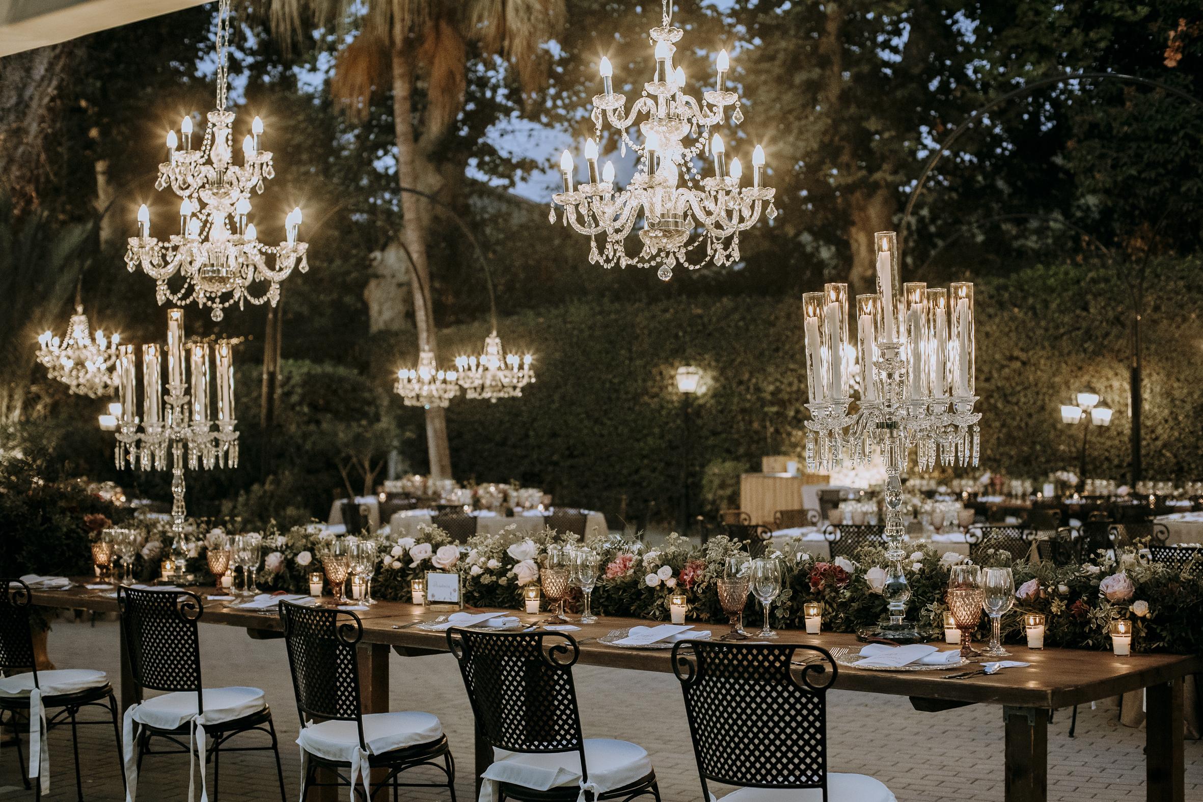 iluminación para boda